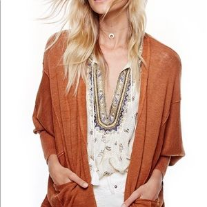 Free People Days Like This Cardi XS Copper Rust